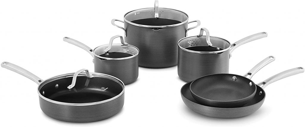 Calphalon Classic Pots And Pans Set, 10-Piece Nonstick Cookware Set