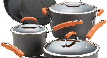 Rachael Ray Brights Hard-Anodized Aluminum Nonstick Cookware Set