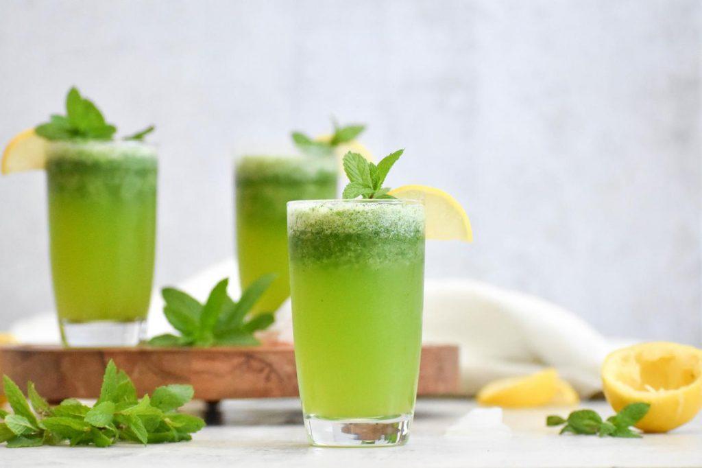 Homemade Mint Lemonade